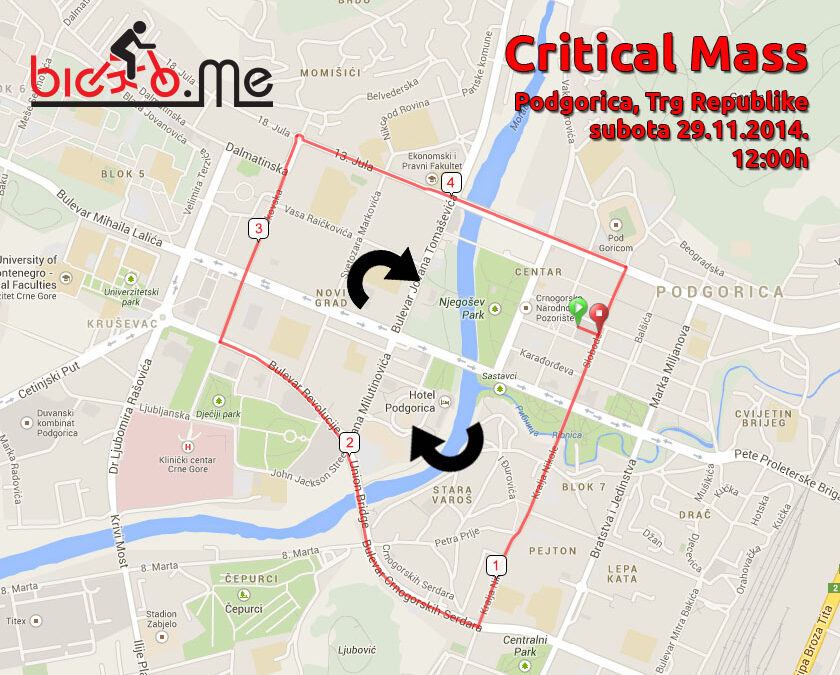 Petnaesti podgorički Critical Mass – Bicikli pričaju priče