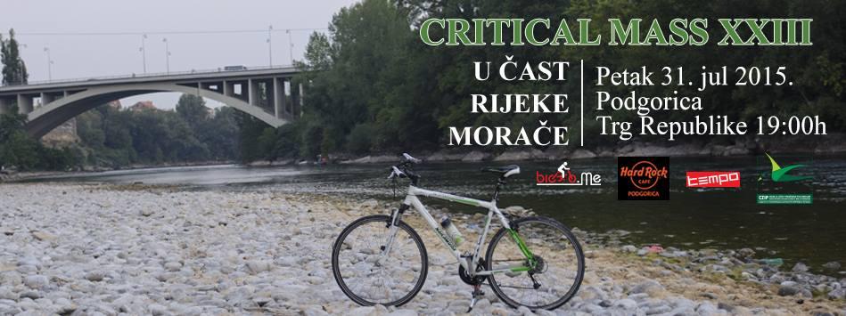 Critical Mass u čast rijeke Morače