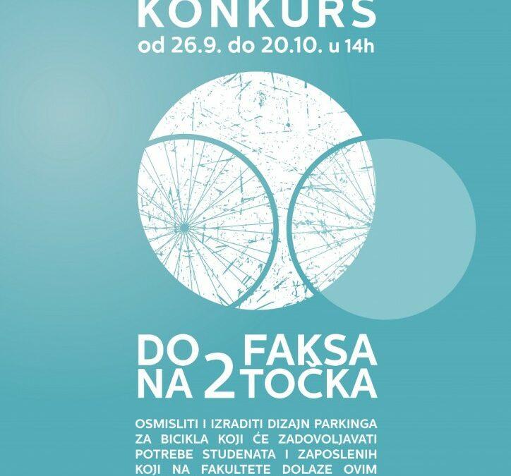 """Nagradni konkurs za idejno rješenje biciklističkih parkinga """"Do faksa na dva točka"""""""