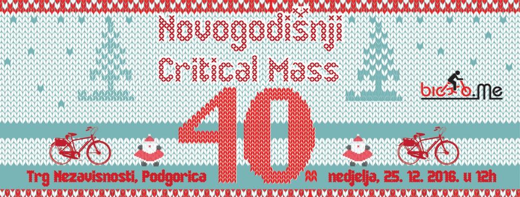 Novogodišnji jubilarni 40. Critical Mass