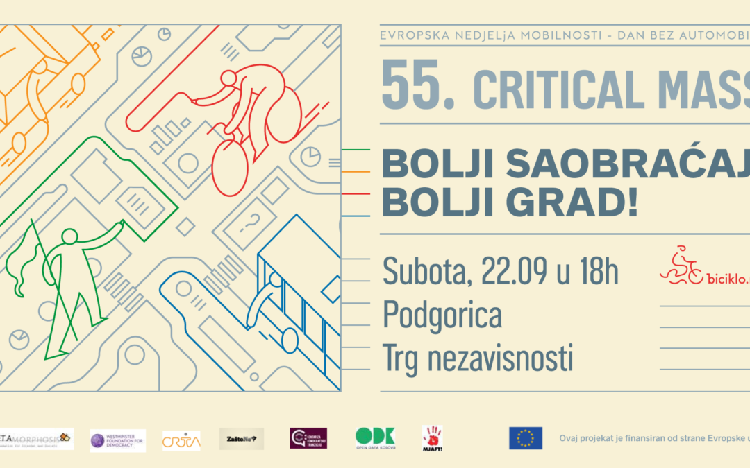 55. Critical Mass – Bolji saobraćaj – bolji grad